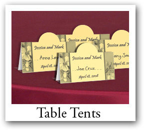Christmas Custom Place Cards and table tents, note cards and thank you cards