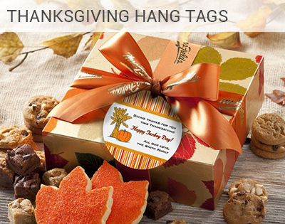 Customizable Thanksgiving labels, custom tags ...