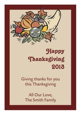 Thick Border Thanksgiving Labels