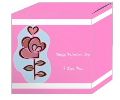 Top and Bottom Border Valentine Boxes