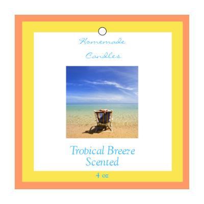 Tropical Breeze Candle Hang Tag