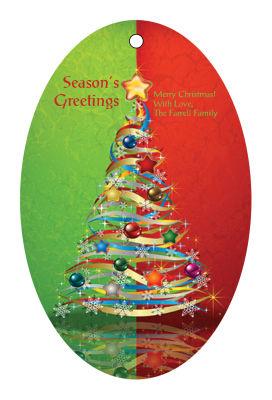 Two Tone Christmas Tree Hang Tags