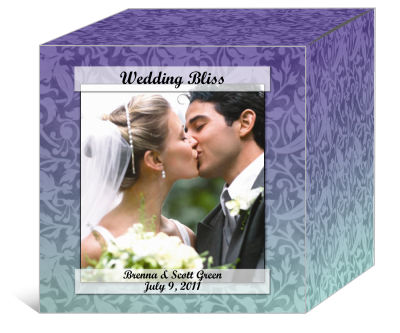 Leaf Pattern Wedding Boxes