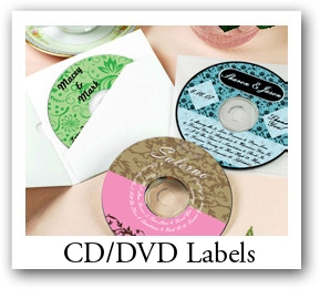 custom wedding CD labels and DVD Labels