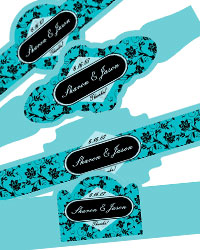 Floral Cigar Band Labels