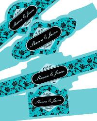 Floral Cigar Band Labels