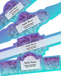 Leaf Pattern Cigar Band Labels