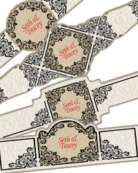 Ornament Cigar Band Labels