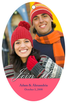 Wedding Photo Hang Tags with Text