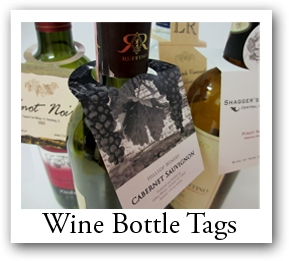 bottle hang tags with photo, custom tags, wedding favor tags, wine tags