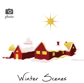 Christmas Winter Scenes Family Cards