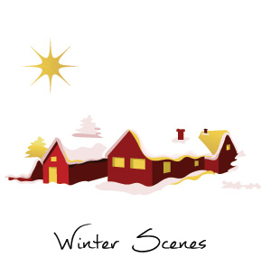 Christmas Winter Scenes Business Holiday Cards