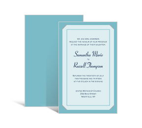 Customizable Wedding invitations with vellum overlay Contemporary