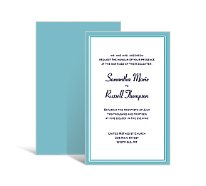 Classical wedding invitations wedding supplies customizable wedding custom rectangle invitation 5875 x5875 stopboris Gallery