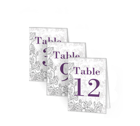 Customizable Table Numbers For For Engagement Bridal Shower And - Wedding table tents