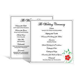 Wedding Square Programs Diy Wedding Programs Wedding Program With
