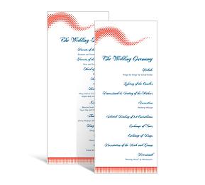 modern diy wedding tea length wedding programs wedding programs personalized wedding papers