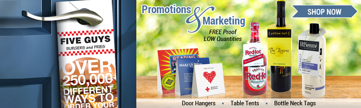 Commercial Print Promotional Marketing Door Hanger Table Tent