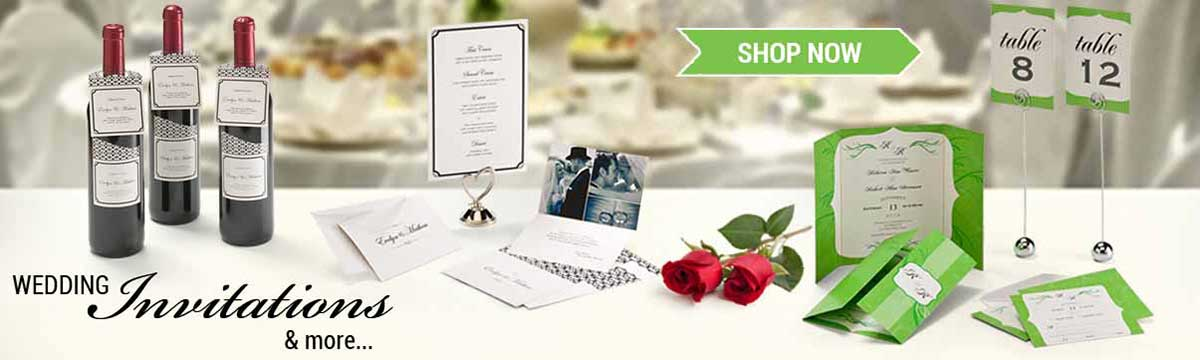 Customized Wedding Invitation Reception Program Menu