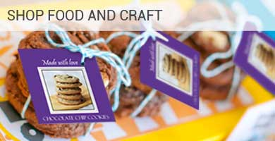Food Craft Printed Label Tags Packaging