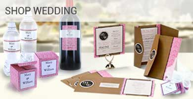Personalized Wedding Invitations Labels, Boxes, Tag and wedding papers