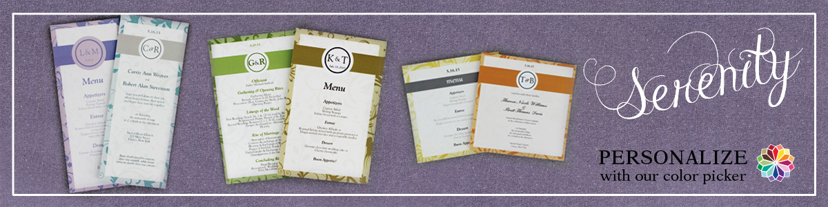 Serene Theme Inspired Wedding Invites And Custom Color Option Invitations Cards Papers