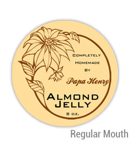 Almond jelly Regular Mouth Ball Jar Topper Insert