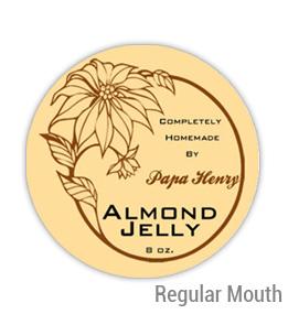 Almond jelly Regular Mouth Ball Jar Topper Insert