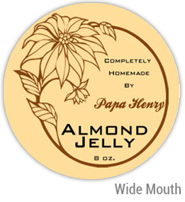 Almond Jelly Wide Mouth Ball Jar Topper Insert