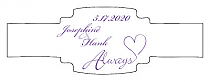 Always Swirly Buckle Cigar Band Wedding Labels