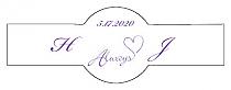 Always Swirly Cigar Band Wedding Labels