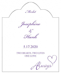 Always Swirly Scalloped Vertical Big Rectangle Wedding Labels