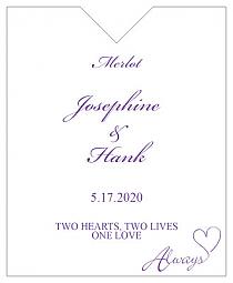 Always Swirly Wine Wedding Label 3.25x4