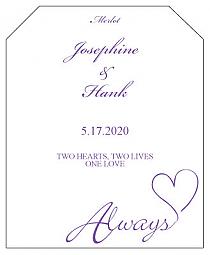 Always Swirly Wine Wedding Label