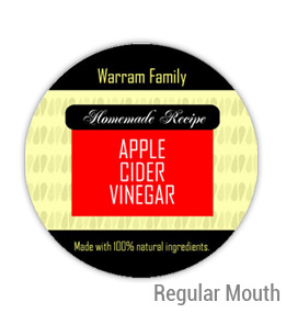 Apple Cider Vinegar Regular Mouth Ball Jar Topper Insert