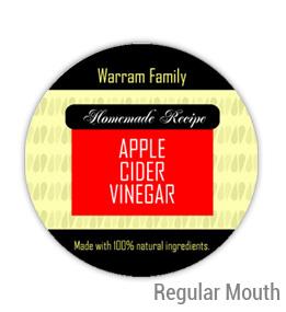Apple Cider Vinegar Regular Mouth Ball Jar Topper Insert