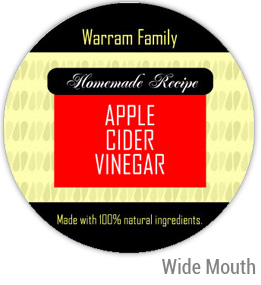 Apple Cider Vinegar Wide Mouth Ball Jar Topper Insert