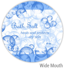 Bath Salt Wide Mouth Ball Jar Topper Insert