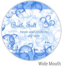 Bath Salt Wide Mouth Ball Jar Topper Insert