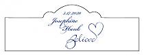 Believe Swirly Billbord Cigar Band Wedding Labels
