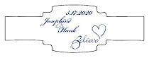Believe Swirly Buckle Cigar Band Wedding Labels
