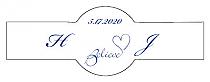 Believe Swirly Cigar Band Wedding Labels