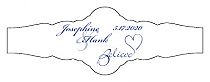 Believe Swirly Fancy Cigar Band Wedding Labels