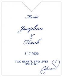 Believe Swirly Wine Wedding Label 3.25x4