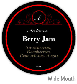 Berry Jam Wide Mouth Ball Jar Topper Insert