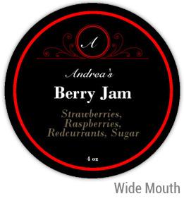 Berry Jam Wide Mouth Ball Jar Topper Insert