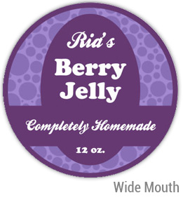 Berry Jelly Wide Mouth Ball Jar Topper Insert