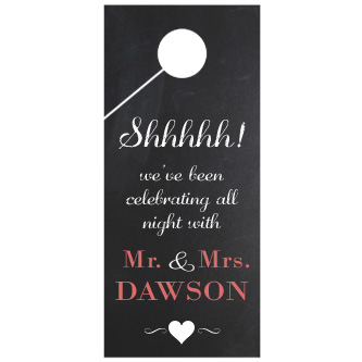 Black Chalkboard Door Wedding Door Hanger 4x9