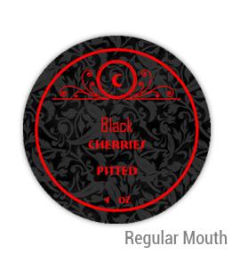 Black Cherries Regular Mouth Ball Jar Topper Insert