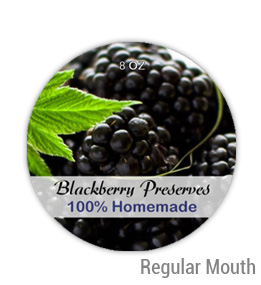 Blackberry Preserves Regular Mouth Ball Jar Topper Insert